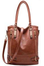 New Fashion Desigual Brand Vintage Leather Handbag Womens Tote Shoulder Messenger Bag Brown