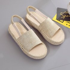 New Fashion Rome Style Summer Straw Sandals Female Students All-match Europe Linen Cloth Sandal Flat Shoes - Int'l - intl