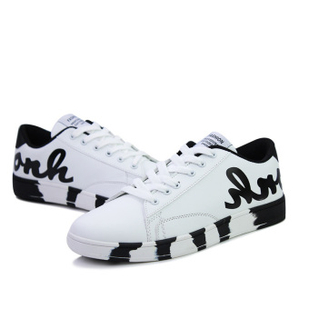 New Fashion Shoes Shoes White Boys Personality English Letters (White) - Intl