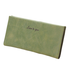 New Fashion Women Long Wallet Soft PU Leather Candy Color Casual Purse Card Holder - Intl