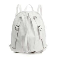 New Fashion Womens Korean Pu Leather Handbag Schoolbag Backpack Shoulder Bag White - Intl