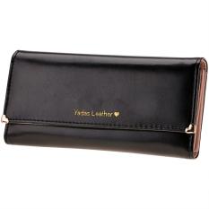 New Fashion Women's Long Wallet Button Clutch Purse Long Handbag (Black) - Intl