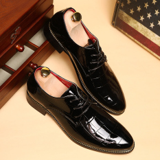 New Men's Dress Formal Oxfords Leather Shoes Business Casual Shoes Dress Casual-black - Intl