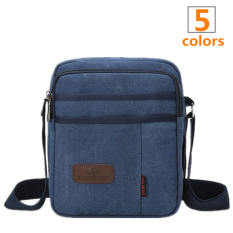 s Crossbody Bag Canvas Leisure Pocket Blue intl. New Men s Crossbody .