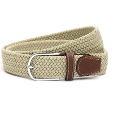 New Mens Leather Braided Elastic Stretch Cross Buckle Casual Golf Belt Waistband