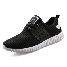 New Mens Sneaker Shoes Korean Casual Shoes The Low Heeled Shoes For Men (Black)