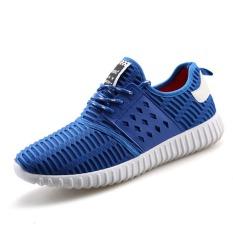 New Mens Sneaker Shoes Korean Casual Shoes The Low Heeled Shoes For Men (Blue)