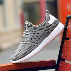 New Mens Sneaker Shoes Korean Casual Shoes The Low Heeled Shoes For Men (Grey)