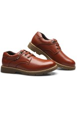 New Style Men's Fashion Breathable Formal Casual Shoes (Brown) (Intl)