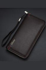 New Style Mens Wallet Business Zipper Purse Large Capacity Men Handbag Coffee 2