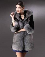 New Stylish Luxury Women's Ladies Hooded Warm Thickening Faux Fur Overcoat Jacket-black-M (EXPORT)