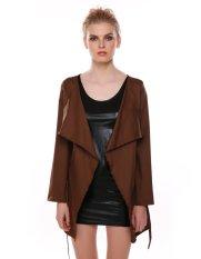 New Stylish Women Ladies Fashion Design Belted Long Sleeve Coat Jacket-khaki-M (EXPORT)