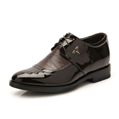 New Summer Men's Business Casual PU Leather Shoes (Black) - Intl