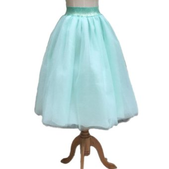 e6d42d5f0cc New Women Chiffon Tulle Skirt High waist Midi Knee Length ChiffonFemale Skirts  plus size S-