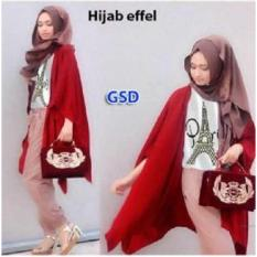 Nicer-Setelan Baju Muslim Wanita- Set Hijab Effel Maroon