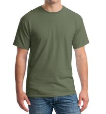 Niza Kaos Polos Tshirt Round O Neck Lengan Pendek Kualitas Distro Cotton Combed 20S Harga Murah Nyaman Dipakai Tsop004-Hijau Army