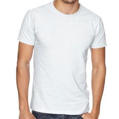 Niza Kaos Polos Tshirt Round O Neck Lengan Pendek Kualitas Distro Cotton Combed 20S Harga Murah Nyaman Dipakai Tsop002-Putih