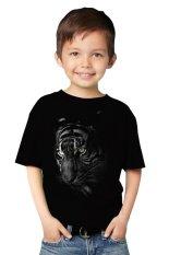 NSClothing Kaos 3D Kids Harimau 2 Hitam - Hitam