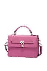 NUCELLE Real Genuine Cow Leather Messenger Shoulder Hand Bag Handbag Cross Body Purse Flap Women Pink