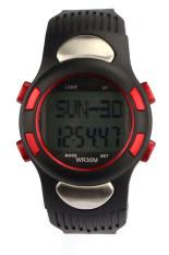 OEM Fitness 3D Pedometer Calories Counter Watch Pulse Heart Rate Monitor Red Jam Tangan