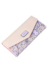 OEM Women Retro Leather Long Wallet (Purple)