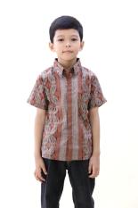 Oktovina-HouseOfBatik Hem Anak Batik - Kids Batik HA-1 - Abu-abu Cokelat