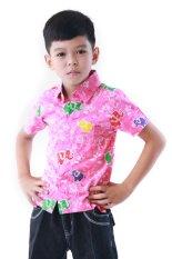 Oktovina-HouseOfBatik Hem Batik Katun Anak - Kids Batik HAKG-2 - Merah Muda