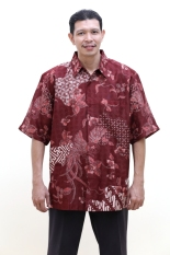 Oktovina-HouseOfBatik Hem Batik Sutra - Batik Premium HS-1 - Merah