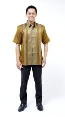 Oktovina-HouseOfBatik Kemeja Batik Baron - Batik Premium KBLP-2 - Cokelat