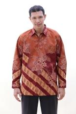 Oktovina-HouseOfBatik Kemeja Batik Tulis Katun - Batik Tulis KTK-3 - Cokelat
