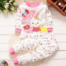 Onemarkets Piyama bayi / Baju Tidur Bayi Korean Style Motif Rabbit Pink