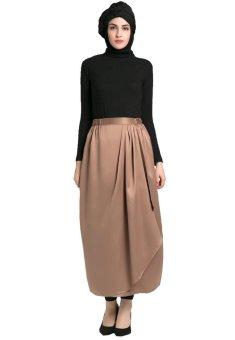 Origami Dea Velvet Skirt - Light brown