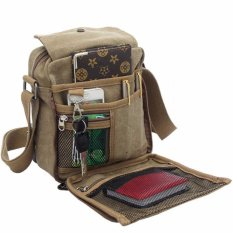 Orlando Tas Selempang Pria Canvas Vintage Outdoor Shoulder Bag - Khaki