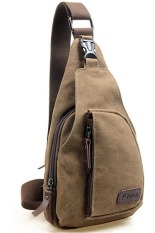 Ormano Bodypack Sling Bag Tas Fashion Selempang Pria - Coklat Tua