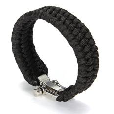 Outdoor Paracord Survival Bracelet (Black)