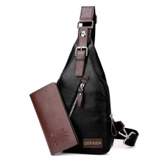 Paket rekreasi Crossbody Bag laki-laki cenderung satu paket tas ransel bahu bag dada pinggang
