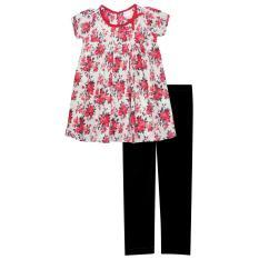 Papeterie - Setelan Pakaian Anak Perempuan ST 240 Motif Bunga Pita - Multicolor