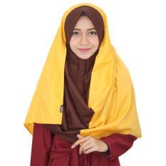 Parisku hijab pashmina instant katun premium shafira yellow new