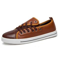 PATHFINDER Fashion Men's New PU Casual Sports Shoes Lace Up Sneakers (Brown) - Intl
