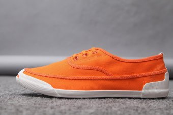 Pattrily 2017 new low help, men casual board shoes, trendy canvas shoes(orange) - intl
