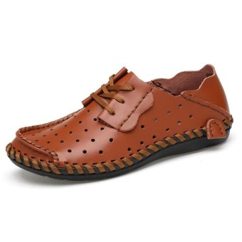 Pattrily casual lazy shoes, cool summer ventilation, comfortable and easy to wear(brown) - intl
