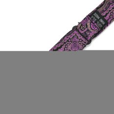 PenSee 100% Silk Mens Self Bow Tie Luxurious Purple & Black Bow Ties (Intl)