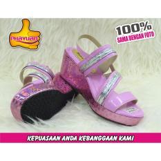 Phayuan Sandal Anak Perempuan Fashion- K16A- Baby pink-Selop Wedge
