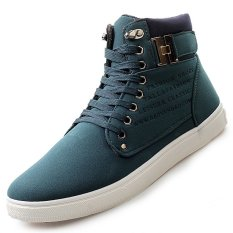 PINSV Men's Fashion Sneakers With High Cut (Green) (Intl)