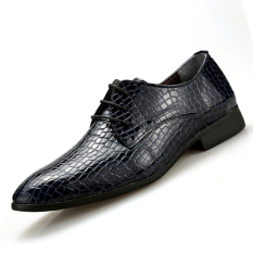 PINSV Synthethic Leather Men Formal Shoes Casual Leather Shoes (Navy) - Intl
