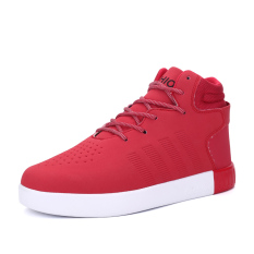 PINSV Women's Casual Shoes Fashion Sneakers High Cut (Red) - Intl