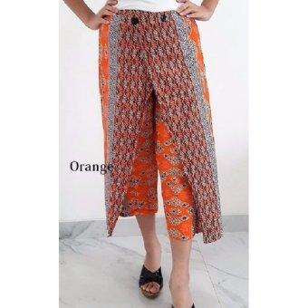 Pitakita Celana Batik Kulot Panjang Naura [Orange]