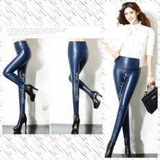 Pocabela Shop - Faux Leather Legging - Navy