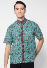 Pomona Batik Kemeja Lengan Pendek - Hijau