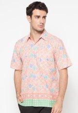Pomona Batik Kemeja Lengan Pendek - Pink